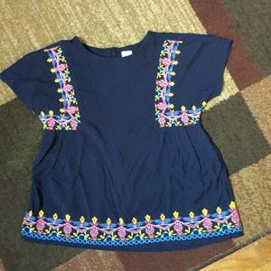 Gap pheasant embroidered blouse NWT  S